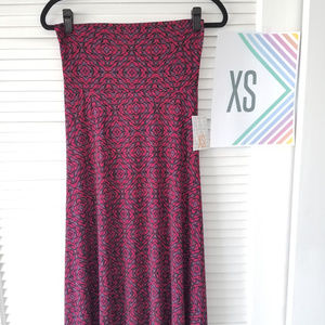 New LuLaRoe Maxi Skirt-Black/Multi-Colored